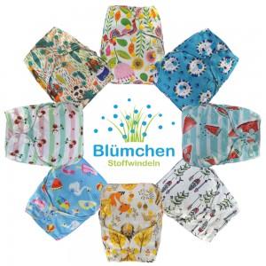 Blümchen OneSize Überhose  Druckknopf limited Edition