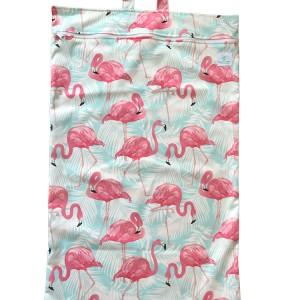 Blümchen XL Windelsack Flamingo
