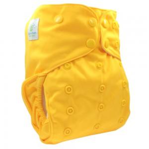 Blümchen AIO V2 gelb Druckknopf