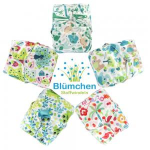 Blümchen All-in-One V2 Designs Druckknopf
